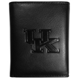 Kentucky Wildcats Embossed Tri-fold Wallet - Our officially licensed embossed tri-fold wallet looks great and is affordably priced. The wallet has the classy feel of a much higher priced wallet and features an embossed Kentucky Wildcats logo on the front. The wallet has a windowed ID slot, lots of credit card slots and 2 big bill-fold pockets and removable plastic picture insert. Thank you for shopping with CrazedOutSports.com