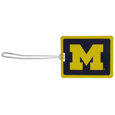 Michigan Wolverines Vinyl Luggage Tag
