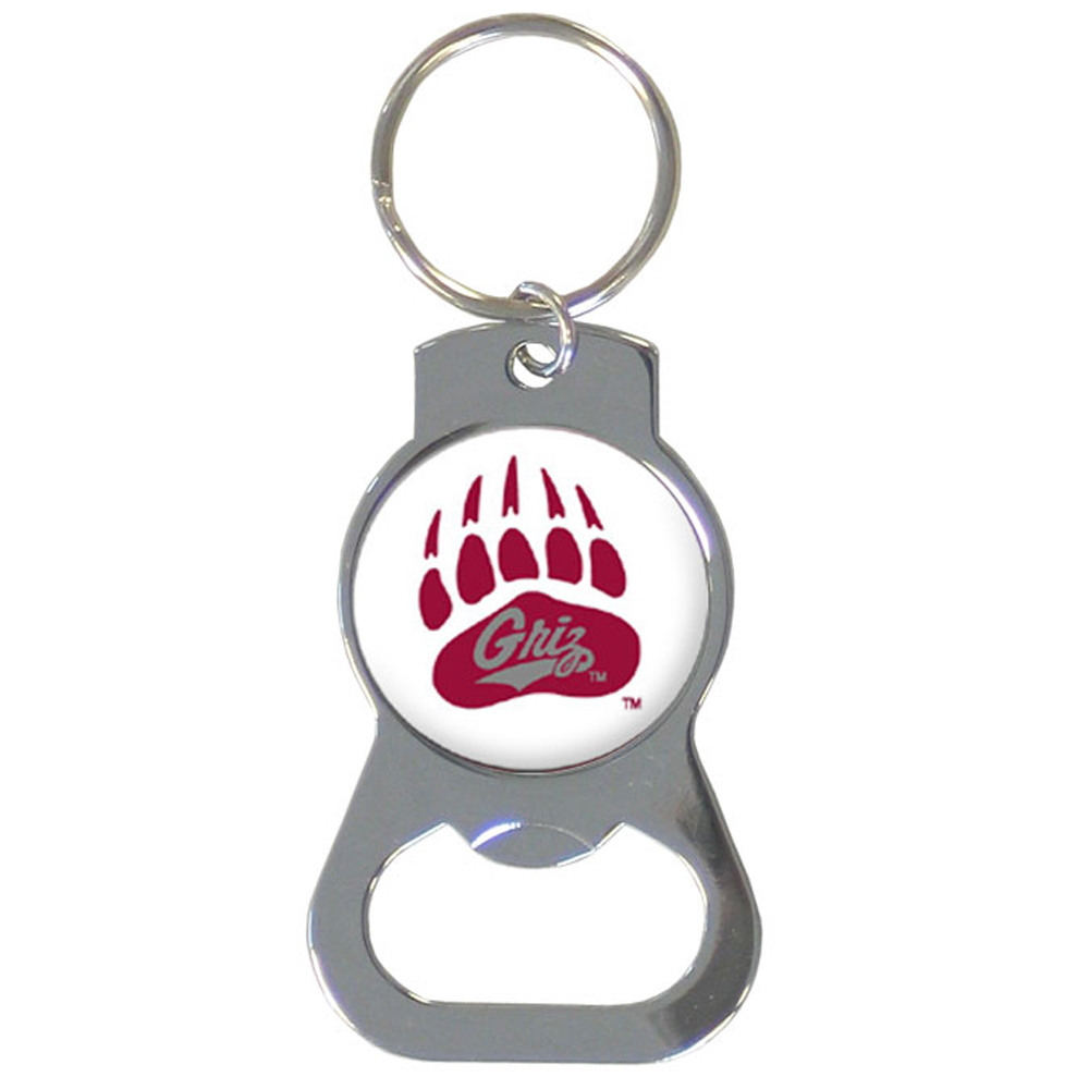 Montana Grizzlies Bottle Opener Key Chain - Hate searching for a bottle opener, get our Montana Grizzlies bottle opener key chain and never have to search again! The high polish key chain features a bright team emblem.