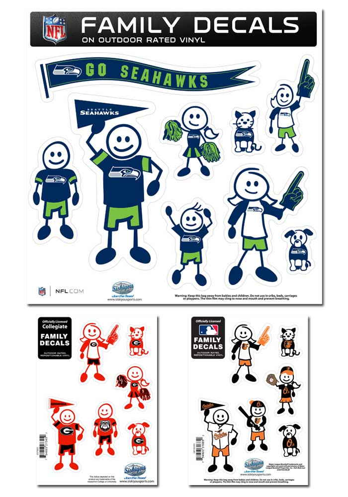 Sports Family Character Decals