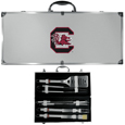 S. Carolina Gamecocks 8 pc Stainless Steel BBQ Set w/Metal Case