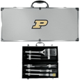 Purdue Boilermakers 8 pc Stainless Steel BBQ Set w/Metal Case