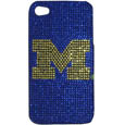 Michigan Wolverines iPhone 4/4S Glitz Snap on Case