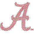 Alabama Crimson Tide Bling Decal