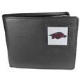 Arkansas Razorbacks Leather Bi-fold Wallet Packaged in Gift Box