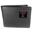 Texas Tech Raiders Leather Bi-fold Wallet Packaged in Gift Box