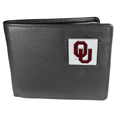 Oklahoma Sooners Leather Bi-fold Wallet Packaged in Gift Box