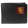 USC Trojans Leather Bi-fold Wallet Packaged in Gift Box