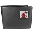 Washington St. Cougars Leather Bi-fold Wallet Packaged in Gift Box