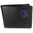 Boise St. Broncos Leather Bi-fold Wallet Packaged in Gift Box