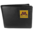Minnesota Golden Gophers Leather Bi-fold Wallet Packaged in Gift Box