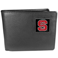N. Carolina St. Wolfpack Leather Bi-fold Wallet Packaged in Gift Box