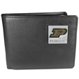 Purdue Boilermakers Leather Bi-fold Wallet Packaged in Gift Box