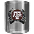 Texas A & M Aggies Steel Can Cooler Flame Emblem