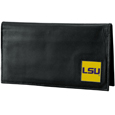 LSU Tigers Deluxe Leather Checkbook Cover