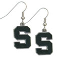 Michigan St. Spartans Dangle Earrings