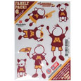 Minnesota Golden Gophers Family Decal Set Small