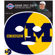 Michigan Wolverines Game Face Temporary Tattoo