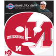 Nebraska Cornhuskers Game Face Temporary Tattoo