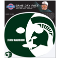 Michigan St. Spartans Game Face Temporary Tattoo