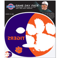Clemson Tigers Game Face Temporary Tattoo