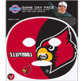 Louisville Cardinals Game Face Temporary Tattoo