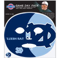N. Carolina Tar Heels Game Face Temporary Tattoo