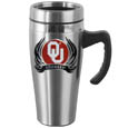 Oklahoma Sooners Steel Travel Mug w/Handle