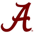 Alabama Crimson Tide 8 inch Logo Magnets