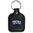 TCU Horned Frogs Square Leatherette Key Chain