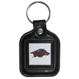 Arkansas Razorbacks Square Leatherette Key Chain