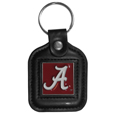 Alabama Crimson Tide Square Leatherette Key Chain