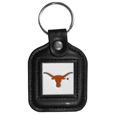 Texas Longhorns Square Leatherette Key Chain