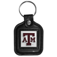 Texas A & M Aggies Square Leatherette Key Chain