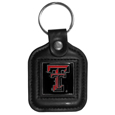 Texas Tech Raiders Square Leatherette Key Chain