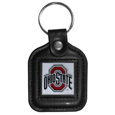 Ohio St. Buckeyes Square Leatherette Key Chain