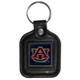 Auburn Tigers Square Leatherette Key Chain