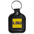 LSU Tigers Square Leatherette Key Chain