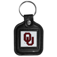 Oklahoma Sooners Square Leatherette Key Chain