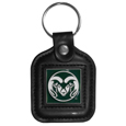 Colorado St. Rams Square Leatherette Key Chain