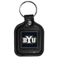 BYU Cougars Square Leatherette Key Chain