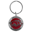 Arkansas Razorbacks Carved Metal Key Chain