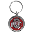 Ohio St. Buckeyes Carved Metal Key Chain