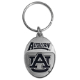 Auburn Tigers Carved Metal Key Chain