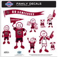S. Carolina Gamecocks Large Family Decal Set - Show off your team pride with our S. Carolina Gamecocks family automotive decals. The set includes 9 individual family themed decals that each feature the team logo. The large characters are a full 6 inches tall! The 11 x 11 inch decal set is made of outdoor rated, repositionable vinyl for durability and easy application. Thank you for shopping with CrazedOutSports.com