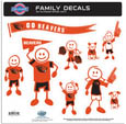 Oregon St. Beavers Large Family Decal Set - Show off your team pride with our Oregon St. Beavers family automotive decals. The set includes 9 individual family themed decals that each feature the team logo. The large characters are a full 6 inches tall! The 11 x 11 inch decal set is made of outdoor rated, repositionable vinyl for durability and easy application. Thank you for shopping with CrazedOutSports.com