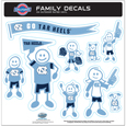 N. Carolina Tar Heels Family Decal Set Large