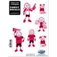 Arkansas Razorbacks Small Family Decal Set - Show off your team pride with our Arkansas Razorbacks family automotive decals. The Arkansas Razorbacks Small Family Decal Set includes 6 individual family themed decals that each feature the team logo. The 5 x 7 inch decal set is made of outdoor rated, repositionable vinyl for durability and easy application. Thank you for shopping with CrazedOutSports.com