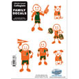 Miami Hurricanes Small Family Decal Set - Show off your team pride with this Miami Hurricanes Small Family Decal Set automotive decals. The Miami Hurricanes Small Family Decal Set includes 6 individual family themed decals that each feature the team logo. The 5 x 7 inch Miami Hurricanes Small Family Decal Set is made of outdoor rated, repositionable vinyl for durability and easy application.  Thank you for shopping with CrazedOutSports.com