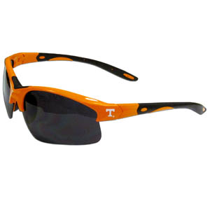 Tennessee Blade Sunglasses - Our blade sunglasses have the sports logo screen printed on both sides of the frames. Look stylish wearing our sports memorabilia glasses with arms that feature rubber colored accents and UV400 protection. Thank you for shopping with CrazedOutSports.com